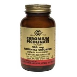CHROMIUM PICOLINATE 200MG VEGETABLE FCO 90 CAPSULAS