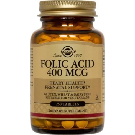 FOLIC ACID 400MG FCO 100 TABLETAS