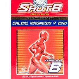 SHOTB (FUENTES DE COMPLEJO B MULTIVITAMINICO ZINC CALCIO) FCO*30 CAPSULAS