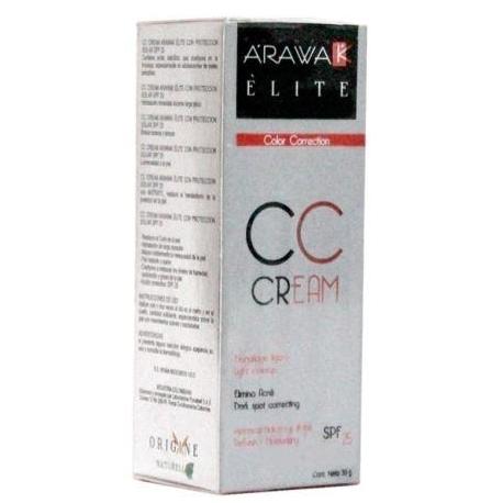 ARAWAK ELITE CREAM CC COLOR CORRECTION (MAQUILLAJE LIGERO-ELIMINA ACNE-REFRESCA-HIDRATA-NUTRE) FCO*30GR