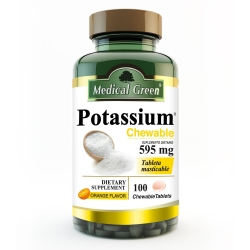 POTASSIUM 595 MG (CHEWABLE ORANGE FLAVOR) FCO*100 TABLETAS MASTICABLES SABOR NARANJA