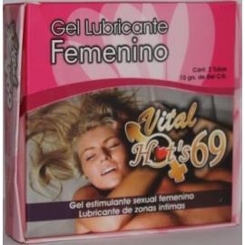 VITAL HOTS 69 GEL FEMENINO (AUMENTA LA SENSIBILIDADY ESTIMULA) (ENVIOS A COLOMBIA) CAJA*2 TUBOS