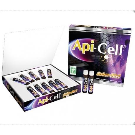 API-CELL (a base de Spirulina, enriquecido con Vitaminas y Minerales) CAJA*10 AMPOLLAS BEBIBLES