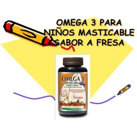 OMEGA MASTICABLE para niños SABOR A FRESA *60 Gomitas (envíos a todo Colombia)