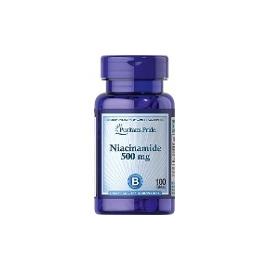 Niacinamide 500 Mg 100 Tabletas Puritan Pride (ENVIOS A COLOMBIA) FCO*100 UNIDADES