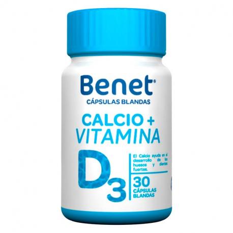 BENET CALCIO + VITAMINA D CAPSULA BLANDA (ENVIOS ATODA COLOMBIA) FCO*30 CAPSULAS BLANDAS
