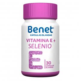 BENET VITAMINA E + SELENIO CAPSULA BLANDA (ENVIOS A TODA COLOMBIA) FCO*30 CAPSULAS